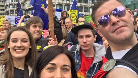 St Albans campaigners on the march. Picture: St Albans for Europe/Harpenden for Europe