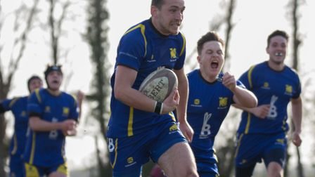 Rick Peters scored two tries to help title-chasing St Ives 2nds to victory. Picture: PAUL COX