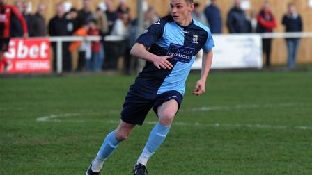 Coach Ben Yeomans made his St Neots Town debut as a player against Kettering Town. Picture: MARK RID