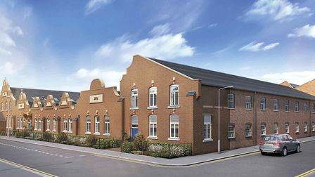 CGI of the refurbished Beaumont Works buiding, now known as Beamont Gardens, on Sutton Road, St Alba