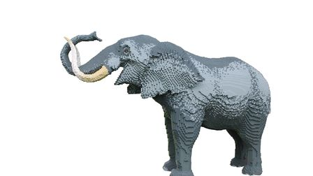LEGO beasts in the Great Brick Safari. Picture: ZSL