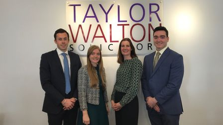 Left to right: Trainee in residential conveyancing Toby Walker, trainee in commercial litigation Lau