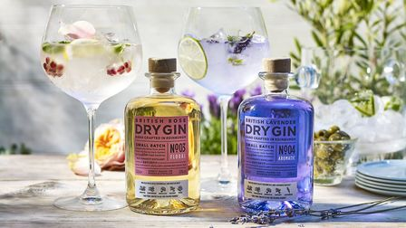 The hamper will include M&S' British Rose or Lavender colour changing gin. Picture: M&S