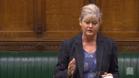 St Albans MP Anne Main speaking at Westminster.