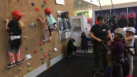Climb The Mountain challenge at Westminster Lodge in aid of It's OK To Say.