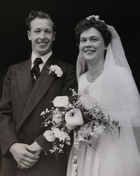 Mary and George Smoker on thier wedding day
