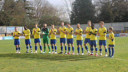 St Albans City FC players pay tribute to former player Mike Thalassitis.