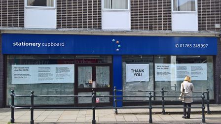 Stationery Cupboard in Royston is leaving the High Street after 30 years. Picture: David Hatton
