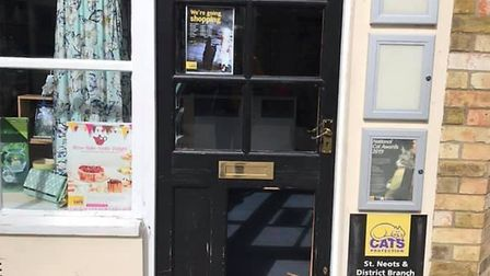Cats Protection, in St Neots, was broken into by burglars. Picture: CONTRIBUTED