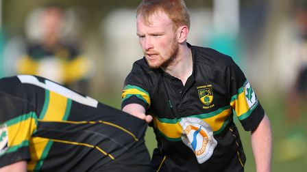 Chris McGrath in the match between Stevenage Town RFC v Tabard. Picture: DANNY LOO