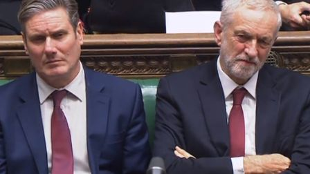 Shadow Secretary of State for Exiting the European Union Keir Starmer and Labour Leader Jeremy Corby