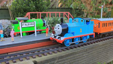 A model of Thomas the Tank Engine will be on display at the St Albans South Signal Box. Picture: Ric