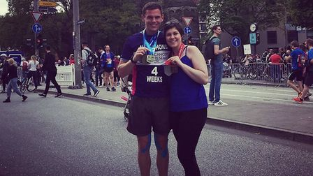 Iain Holiday is taking on the Pedal to the Peaks challenge for Cancer Research UK in memory of his p