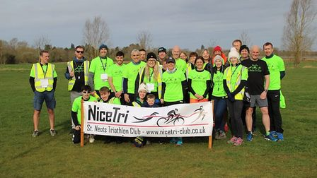 Nice Tri triathlon club took over the pocket parkrun in St Neots