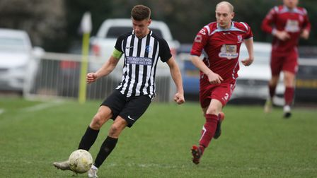 Colney Heath V Crawley Green - Jack Woods in action for Colney Heath.Picture: Karyn Haddon