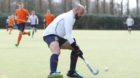 Harpenden HC V East London 11 - Russell Timms in action for Harpenden.Picture: Karyn Haddon