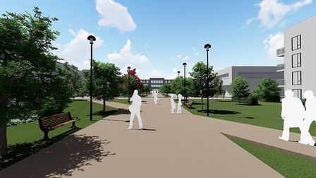 An artist's impression of how the new Alconbury Weald development could shape up. Picture: CONTRIBUT