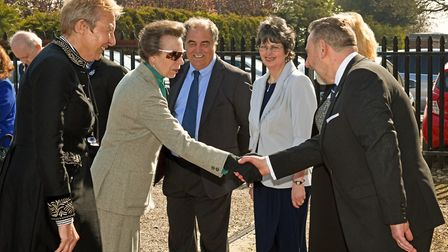 The Princess Royal visited Le Mark, in Wyton, on March 29. Picture: ARCHANT