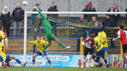 St Albans City goalkeeper Dean Snedker has earned a call up to an FA representative side. Picture