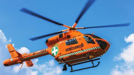 Magpas Air Ambulance landed in Royston this morning. Picture: Archant