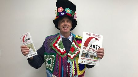 Graham Buck will be handing out leaflets in his coat of many colours. Picture: ARCHANT