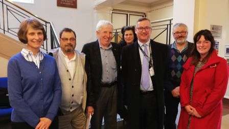 Speakers at the Economy and Environment Committee meeting. Picture: Courtesy of Susan van de Ven
