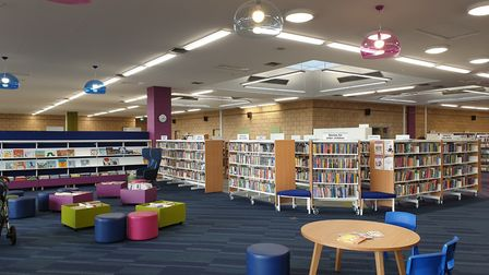 St Albans Library has reopened to the public after a refurbishment. Picture: Herts county council