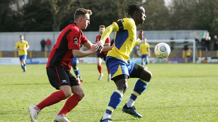 St Albans City V Gloucester City - David Moyo in action for St Albans City.Picture: Karyn Haddon