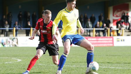 St Albans City V Gloucester City - Lewis Knight in action for St Albans City.Picture: Karyn Haddo