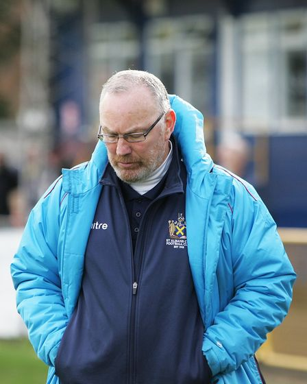 St Albans City V Gloucester City - Ian Allinson, manager of St Albans City.Picture: Karyn Haddon