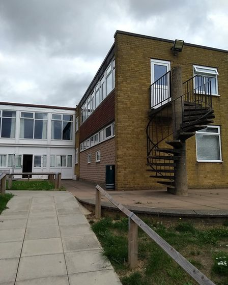 The existing music and Sixth Form block at Samuel Ryder Academy in St Albans. Picture: Barker Associ
