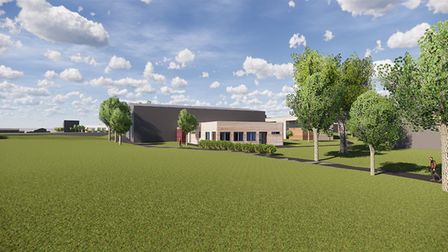 A 3D rendering of the new changing rooms proposed for Samuel Ryder Academy in St Albans. Picture: Ba