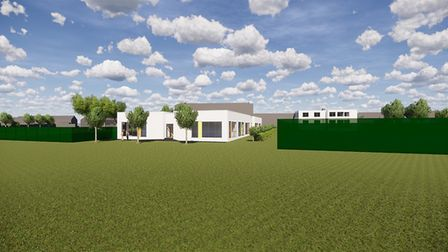 A 3D rendering of a new building proposed for Samuel Ryder Academy in St Albans. Picture: Barker Ass