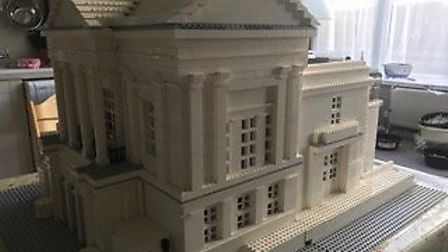 A LEGO model of St Albans Museum + Gallery, Picture: Milligan Knight Architects