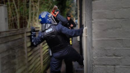 Police carried out a drugs warrant in Clarence Road, St Albans. Picture: Herts Police