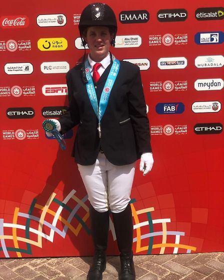 Equestrian gold medallist Lucy Warne. St Albans and Harpenden athletes competed with Team GB at the