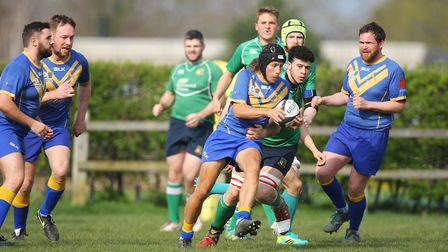 Datchworth V Verulamians - Joseph Breeze in action for the Verulamians.Picture: Karyn Haddon