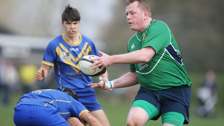 Datchworth V Verulamians - Jamie Pumbaa Smith in action for Datchworth.Picture: Karyn Haddon
