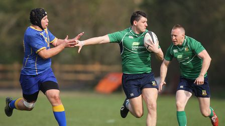 Datchworth V Verulamians - James Young in action for Datchworth.Picture: Karyn Haddon