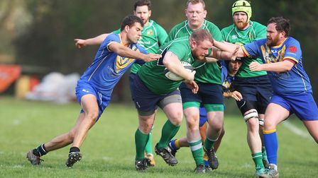 Datchworth V Verulamians - Tom Blackwell in action for Datchworth.Picture: Karyn Haddon