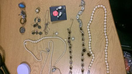 Police are appealing to trace the owners of jewellery found in a stolen vehicle from Radlett. Pictur