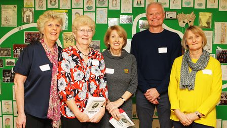 Organisers - Janet Wakelin, Barbara Burgess, Rhona Seviour, Terry Graves and Cheryl Bowyer. Picture: