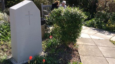 The current position of the Kohima Stone in Melbourn. Picture: Peter Cleminson