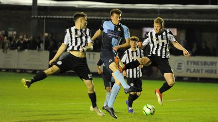 Joe Rider scored in the opening minute of the Hunts Under 18 Cup final for St Neots Town. Picture: M