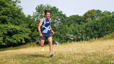 Paul Guy of Garden City Runners set a new PB at the Sandy 10.