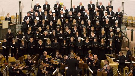 The St Albans Chamber Choir and Wormser Kantorei in Worms, Germany in 2017. Picture: St Albans Chamb