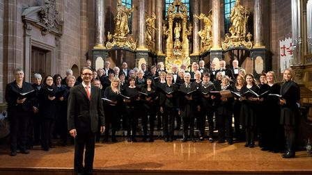 The Wormser Kantorei in Worms, Germany with their conductor Stefan Merkelbach. Picture: St Albans Ch