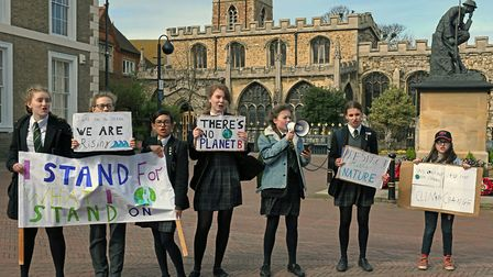 Climate change protest in Huntingdon