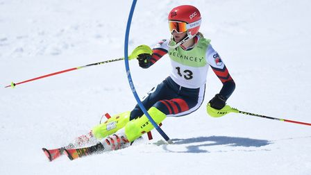 St Albans' Olivia Howeson won the U14 slalom title at the British Championship. Picture: RACER READY