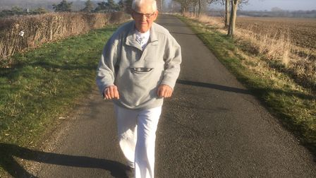 Pete Alsop is in training for his first marathon at the age of 82. Picture: CONTRIBUTED